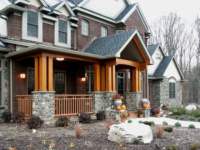 Brick And Stone Fall Rustic Exterior Other By Campbell S Residential Design Service