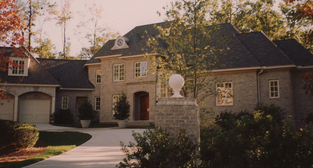 Brick french country traditional exterior raleigh for French country brick exterior