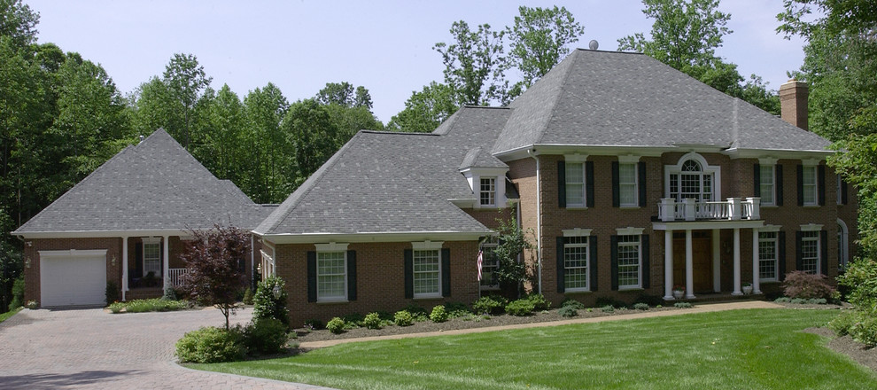 Brick Home With Attached Guesthouse Traditional Exterior Dc Metro By Exceptional Home Designs Houzz