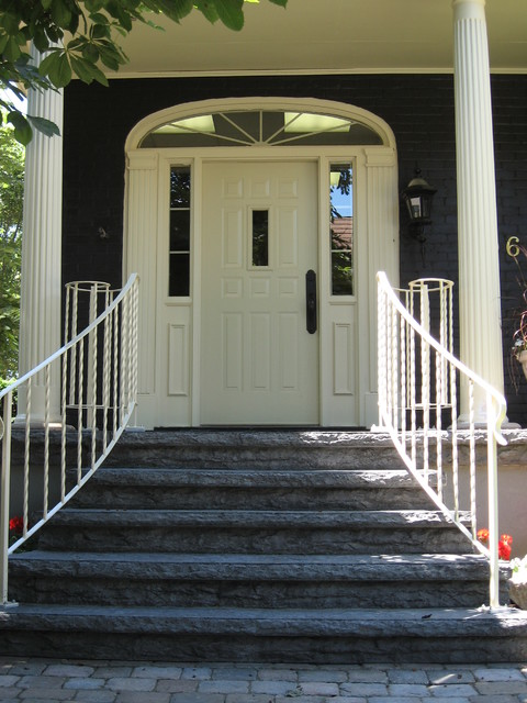 Brick house exterior repaint - Kitchener, Ontario - Traditional - Entry - other metro - by ...
