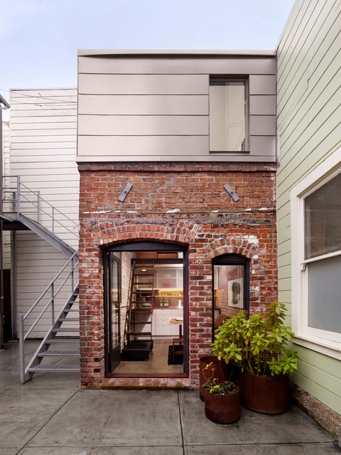 Brick house facade contemporary exterior san for Brick house exterior design