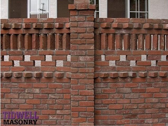 Brick patio screen wall craftsman exterior san diego - Exterior brick wall design ideas ...