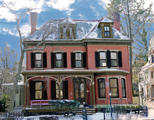 Brick victorian paint colors and new shutters victorian - Victorian house paint colors exterior gallery ...