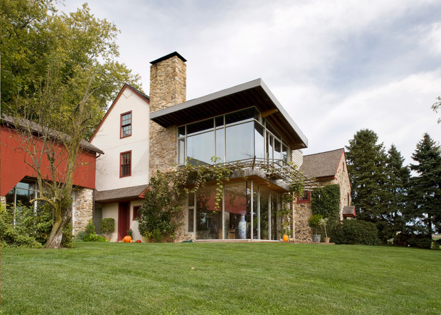 Bright Residence Farmhouse Exterior Philadelphia