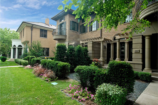 Broad Lawns, Gracious Landscaping - The Palladian, Villa East, Villa West traditional-exterior