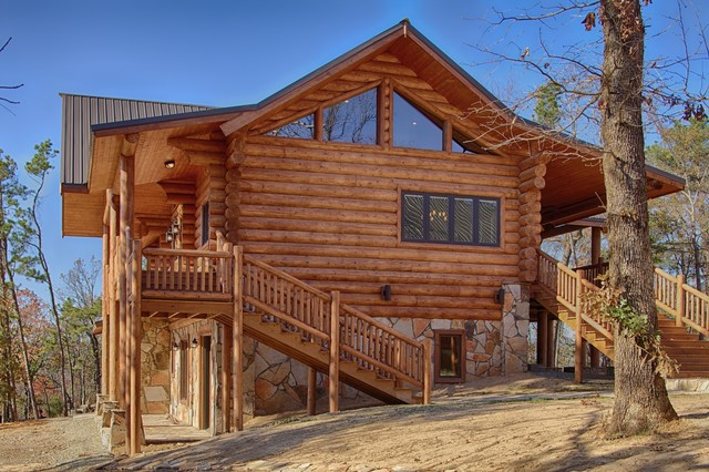 Broken Bow, OK - Rustic - Exterior - dallas - by Satterwhite Log Homes