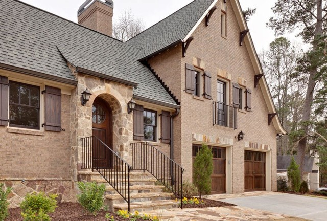 Brookhaven Custom Home - Contemporary Tudor traditional-exterior