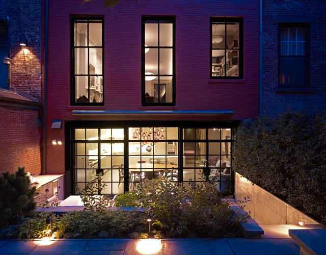 Brooklyn heights townhouse contemporary exterior new for Modern townhouse exterior