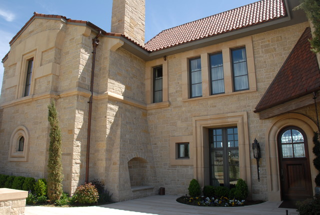Brown Lueders Limestone Mediterranean Exterior Oklahoma City By Richburg Stone Supply