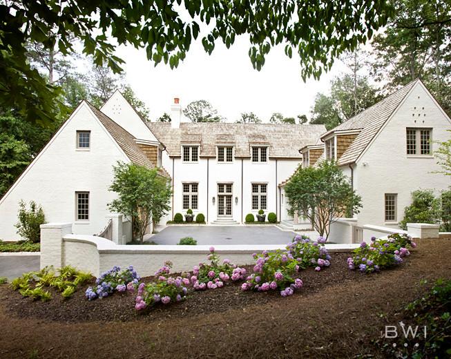 Example of a tuscan exterior home design in Atlanta