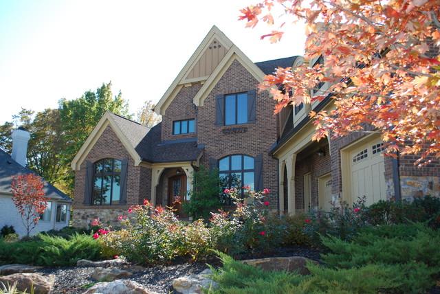 Builder prototype custom homes traditional exterior for Custom home exterior design