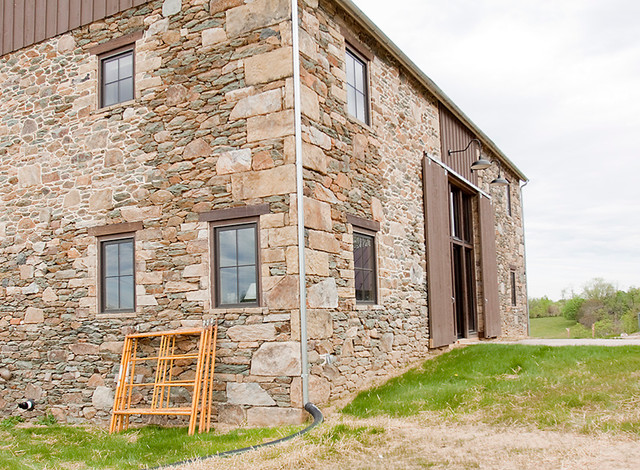 Building with reclaimed wood stone and tin traditional for Reclaimed wood dc