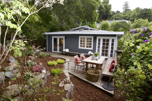 Bungalow cottage exterior other metro by lisa for Bungalow exterior design ideas