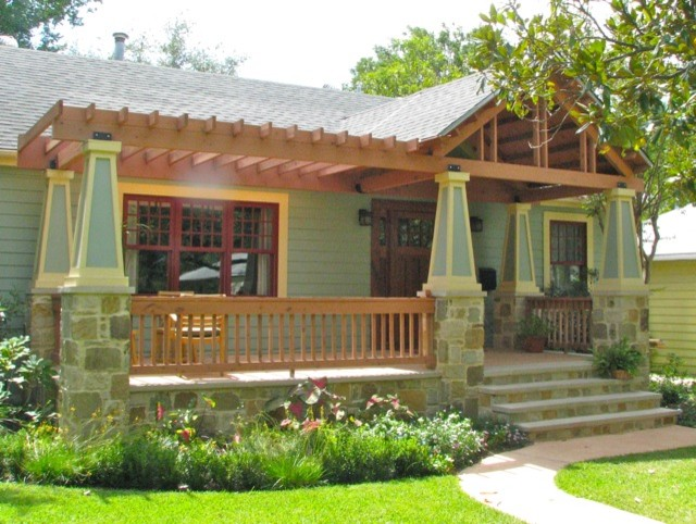 Bungalow Porch Addition Traditional Exterior Austin By Heimsath Architects