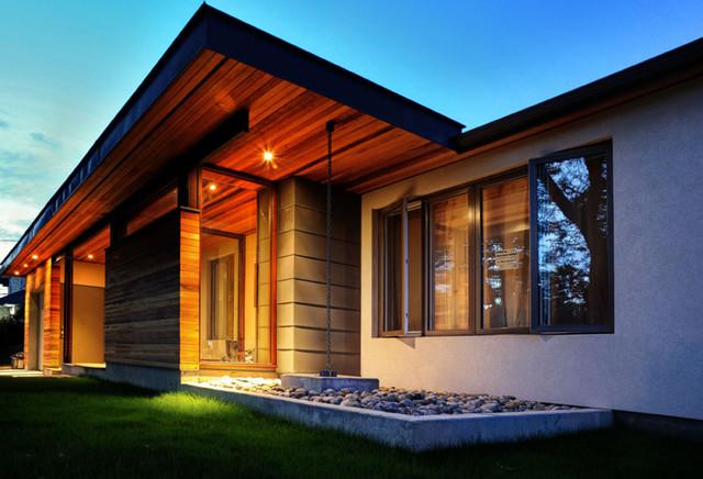 bungalow renovation contemporary exterior toronto On bungalow exterior renovation ideas