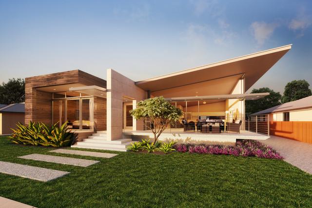 Busselton beach house contemporary exterior perth for Beach house designs perth
