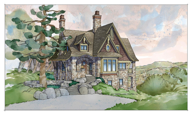 Buttermere storybook collection traditional exterior for Castle and cottage home collection
