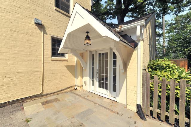Dc garage to mudroom conversion contemporary exterior - Garage conversion exterior ideas ...