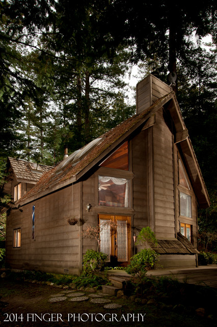Cabin in the Woods, Private Residence in La Honda rustic-exterior