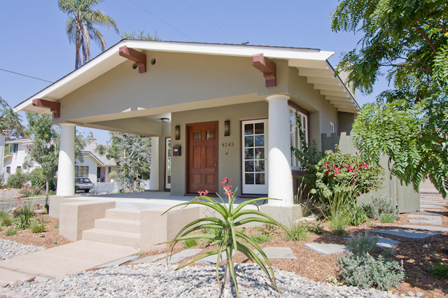 California bungalow remodel traditional exterior san for Californian bungalow front door
