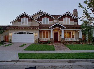 California Craftsman Style Home Traditional Exterior Orange