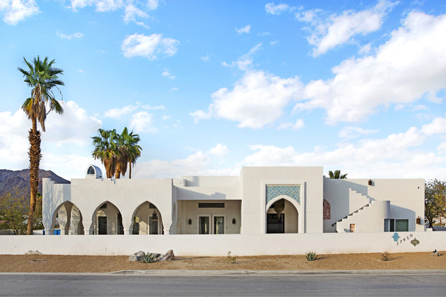 California Desert Moroccan Home Mediterranean Exterior Los Angeles By Arto