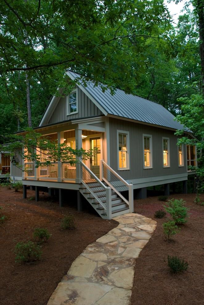 Small rustic exterior home idea in Atlanta