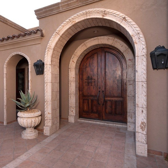 Cantera Stone Door Surrounds Traditional Exterior