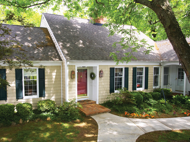 Cape Cod built with vinyl siding - Traditional - Exterior ...