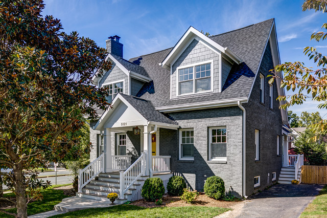 Houzz tour cape cod style home doubles in size for Craftsman cape cod