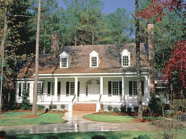 Cape Cod Colonial - Colonial cape cod style house plans