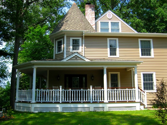 Cape Cod Home Front Porch And Victorian Esque Re
