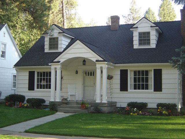 Cape cod makeover traditional exterior seattle by for Cape cod homes with front porches