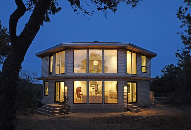 Cape Cod Octagonal House Redux Contemporary Exterior