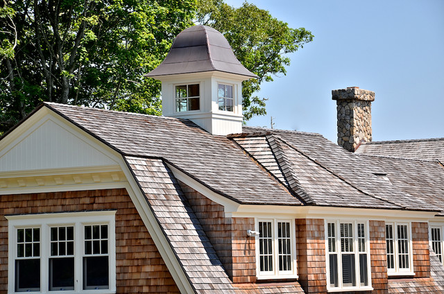 Cape cod shingle style home traditional exterior for Shingle art cape cod
