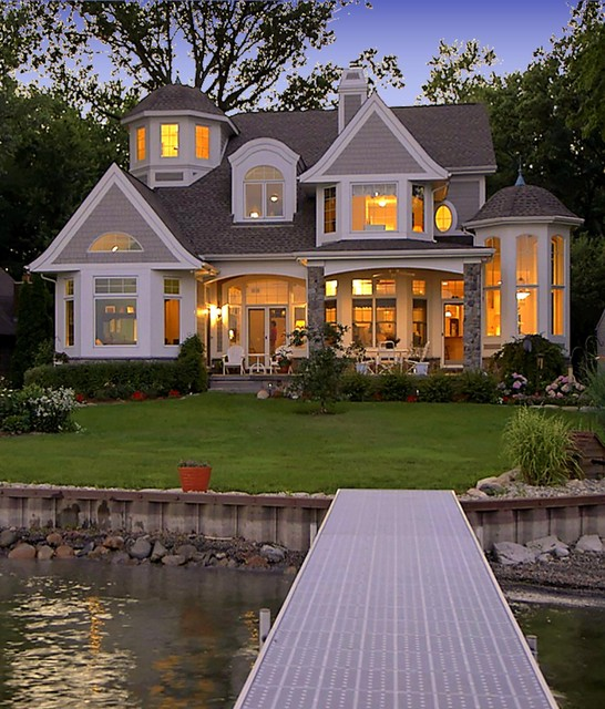 Cape Cod Shingle Style Lake Homevictorian Exterior Detroit