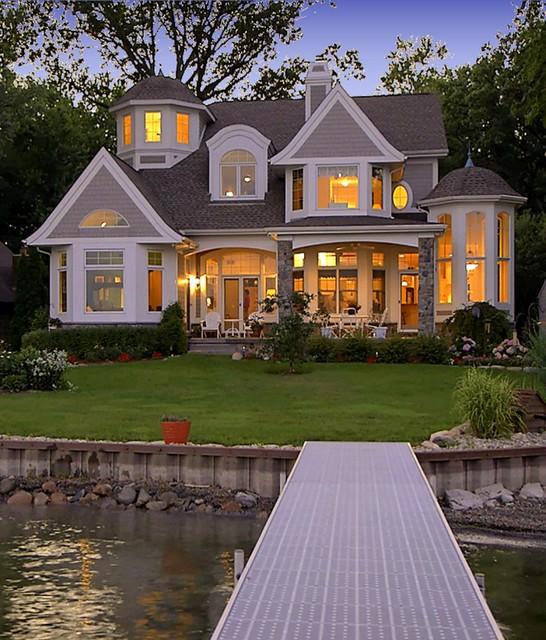 Cape cod shingle style lake home victorian exterior