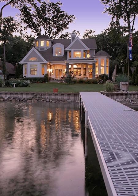 Cape Cod Shingle Style Lake Home Victorian Exterior Detroit By Vanbrouck Amp Associates Inc