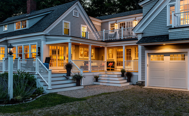 Cape Cod Style Farmhouse Renovation Remodel Kittery Maine Traditional Exterior Boston