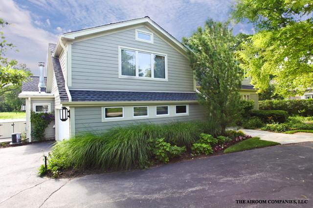 Cape Cod style home contemporary-exterior