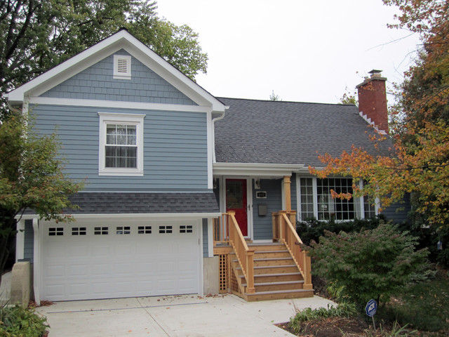 Wilmette, IL Cape Cod Style Home in James Hardie Siding traditional-exterior