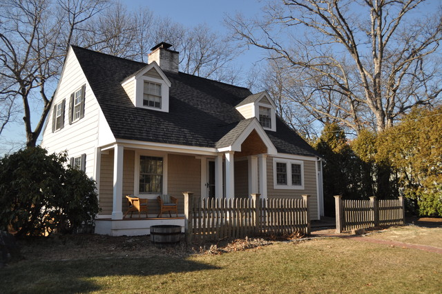 Cape cod style roof extension traditional exterior for Cape cod exterior design