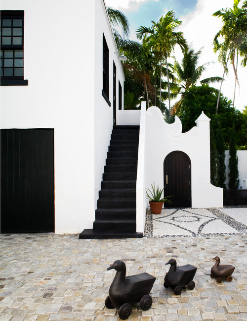 mediterranean exterior Color of the Month: Decorating with White