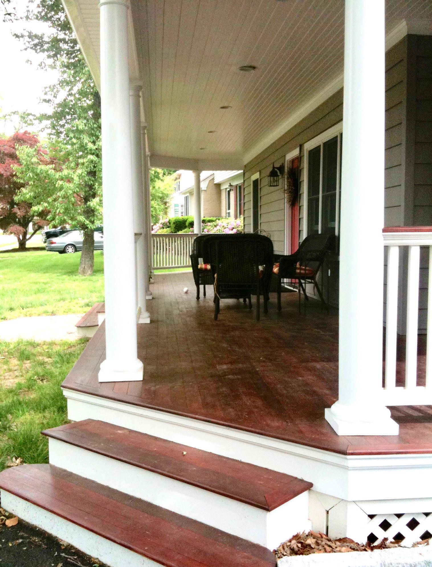 Cape Expansion - Front Porch Detail