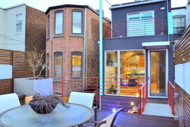 Capitol hill row house contemporary exterior dc for Row house exterior design ideas