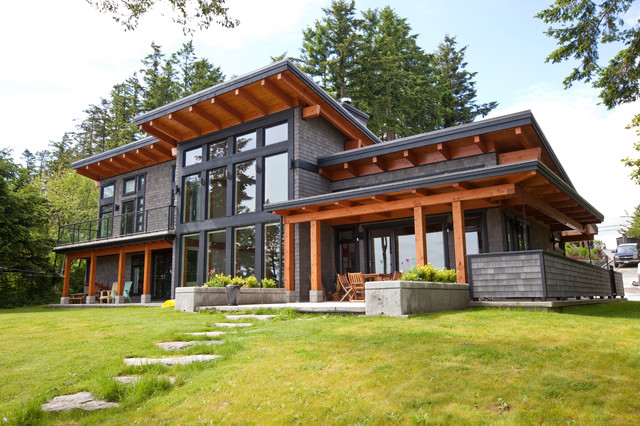 Contemporary exterior vancouver by island timberframe ltd - Capturing The Beauty Of Its Location Contemporary