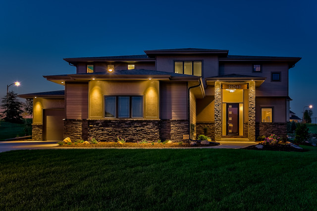 Carmen 2 story by sierra homes omaha contemporary exterior