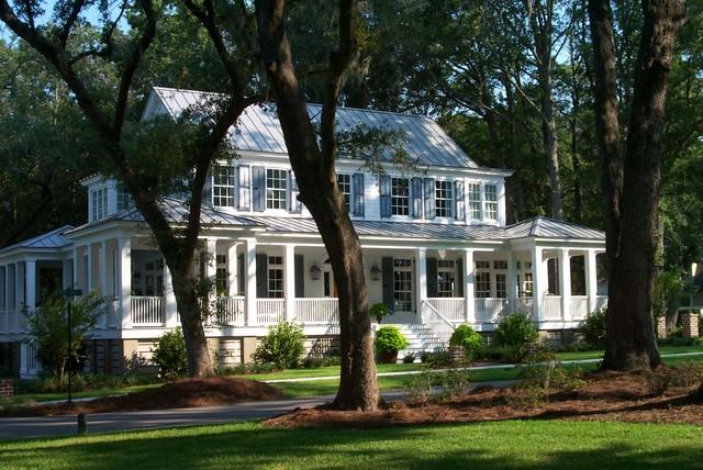 Carolina island house traditional exterior atlanta for Our town house plans
