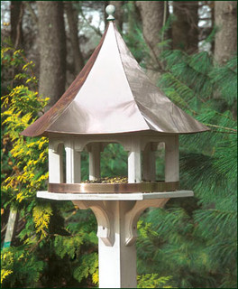 Carousel Bird Feeder With Polished Copper Roof By Lazy Hill Farm Designs Modern House Exterior New York By Good Directions Inc Houzz Uk