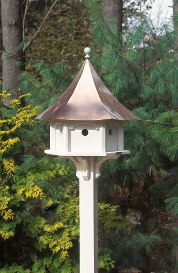 Carousel Bird House With Polished Copper Roof By Lazy Hill Farm Designs Traditional House Exterior New York By Good Directions Inc Houzz Uk